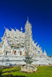 Wat Rong Khun nella provincia di Chiangrai, Tailandia Fotografia Stock