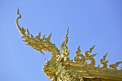 Wat Rong Khun, Northern of Thailand. Popular new modern Thai church at northern of Thailand stock photo