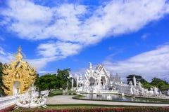 Wat Rong Khun, panorama Photos stock