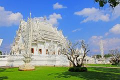 Wat Rong Khun White Temple, Chiang Rai, Thailand. Wat Rong Khun perhaps better known to foreigners as the White Temple, is a contemporary, unconventional royalty free stock photography