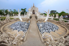 Wat Rong Khun, provincia di Chiang Rai, Tailandia del Nord Fotografie Stock