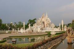 Wat Rong Khun, provincia di Chiang Rai, Tailandia del Nord Fotografie Stock Libere da Diritti