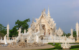 Wat Rong Khun, provincia di Chiang Rai, Tailandia del Nord Immagini Stock