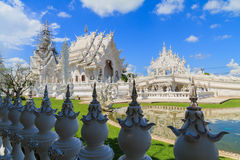 Wat Rong Khun on repairing situation,White temple Royalty Free Stock Photo
