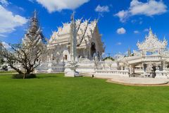 Wat Rong Khun on repairing situation,White temple in chiangrai Royalty Free Stock Image