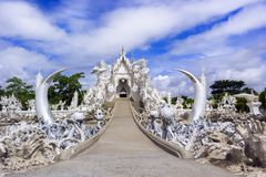 Wat Rong Khun, Road to Temple. Royalty Free Stock Photography