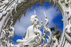 Wat Rong Khun, Sitting Buddha. Royalty Free Stock Image