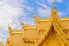 Wat Rong Khun-tempel in Chiang Rai, Thailand Stock Afbeelding