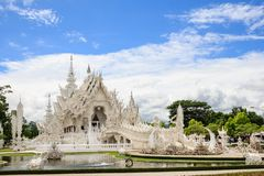 Wat Rong Khun-Tempel Chiang Rai Thailand lizenzfreies stockbild