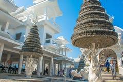 Wat Rong Khun-Tempel in Chiangrai, Thailand Lizenzfreie Stockfotos