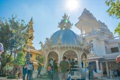 Wat Rong Khun-Tempel in Chiangrai, Thailand Lizenzfreie Stockbilder