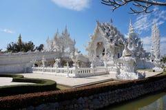Wat Rong Khun-Tempelansicht, Chiang Rai, Thailand Stockfoto
