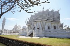 Wat Rong Khun-Tempelansicht, Chiang Rai, Thailand Lizenzfreie Stockfotografie