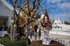 Wat Rong Khun-Tempeldetails in Chiang Rai, Thailand Lizenzfreies Stockfoto