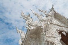 Wat Rong Khun temple in Chiang Rai, Thailand. Wat Rong Khun temple - The White temple in Chiang Rai, Thailand Stock Photo