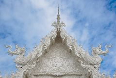 Wat Rong Khun temple in Chiang Rai, Thailand. Wat Rong Khun temple - The White temple in Chiang Rai, Thailand Royalty Free Stock Image