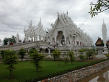 Wat Rong Khun Temple in Chiang Rai, Thailand. Stock Photo