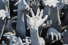 Wat rong khun temple in ChiangRai,Thailand Stock Photos