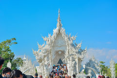 Wat Rong Khun temple in Chiangrai, Thailand. Beautiful ornate white temple in Chiang Rai northern Thailand Royalty Free Stock Photos
