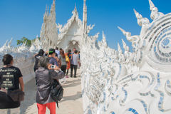 Wat Rong Khun temple in Chiangrai, Thailand. Beautiful ornate white temple in Chiang Rai northern Thailand Royalty Free Stock Images
