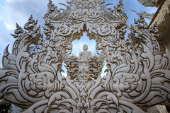 Wat Rong Khun 2. Wat Rong Khun temple is located in the city . Chiang Rai in Thailand Stock Photos