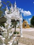 Wat Rong Khun, templo branco, Chaingrai, Tailândia, Ásia Foto de Stock Royalty Free