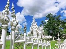 Wat Rong Khun, templo branco, Chaingrai, Tailândia, Ásia Imagem de Stock