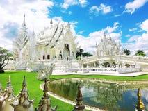 Wat Rong Khun, templo branco, Chaingrai, Tailândia, Ásia Fotografia de Stock