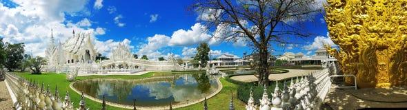 Wat Rong Khun, templo branco, Chaingrai, Tailândia, Ásia Fotos de Stock