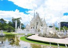 Wat Rong Khun, templo branco, Chaingrai, Tailândia, Ásia Imagens de Stock