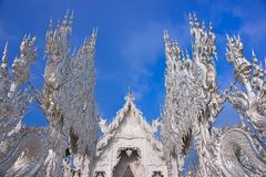 Wat Rong Khun,Thai art  temples culture. Royalty Free Stock Photos