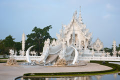 Wat Rong Khun,Thai art  temples culture. Royalty Free Stock Photo