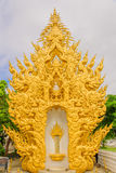 Wat Rong Khun Thai temple. The White temple in Chiang Rai, Thailand Stock Photo
