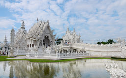 Wat Rong Khun. In Thailand royalty free stock photo