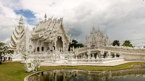 Wat Rong Khun in Thailand. stock photo