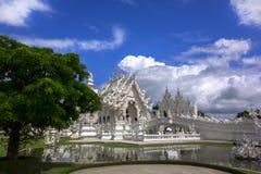 Wat Rong Khun and Tree. Royalty Free Stock Photo