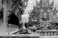 Wat Rong Khun - vit tempel 20 Arkivfoton