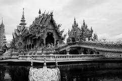 Wat Rong Khun - vit tempel 21 Fotografering för Bildbyråer