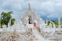 Wat Rong Khun Weiß-Tempel Stockfoto