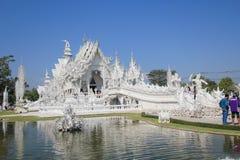 Wat Rong Khun, weißer Tempel in Thailand Lizenzfreie Stockfotografie