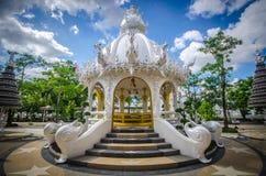 Wat Rong Khun White tempel, Chiang Rai, Thailand Royaltyfria Bilder