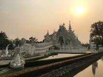 Wat Rong Khun White Temple in Chiang Rai Fotografia Stock Libera da Diritti