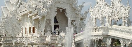 Wat Rong Khun White Temple in Chiang Rai royalty-vrije stock foto
