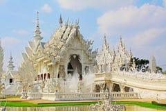 Wat Rong Khun White Temple Chiang Rai, Thailand fotografering för bildbyråer