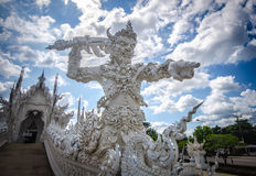 Wat Rong Khun White temple , Chiang Rai, Thailand Stock Photo
