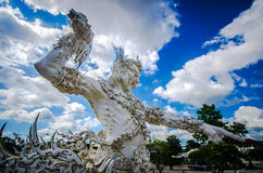 Wat Rong Khun White temple , Chiang Rai, Thailand Royalty Free Stock Photo