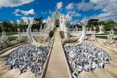 Wat Rong Khun (White Temple), Chiang Rai, Thailand Royalty Free Stock Images