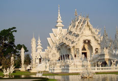 Wat Rong Khun, White Temple in Chiang Rai, Thailand Stock Photography