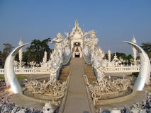 Wat Rong Khun, White Temple inChiang Rai, Thailand Royalty Free Stock Photo