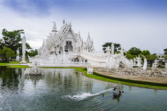 Wat Rong Khun, the White Temple in Chiang Rai, Thailand Royalty Free Stock Photos